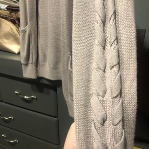 Open from cardigan with lacing details on arms